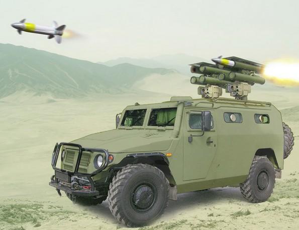 ПТРК «Корнет-ЭМ» на бронеавтомобиле «Тигр»