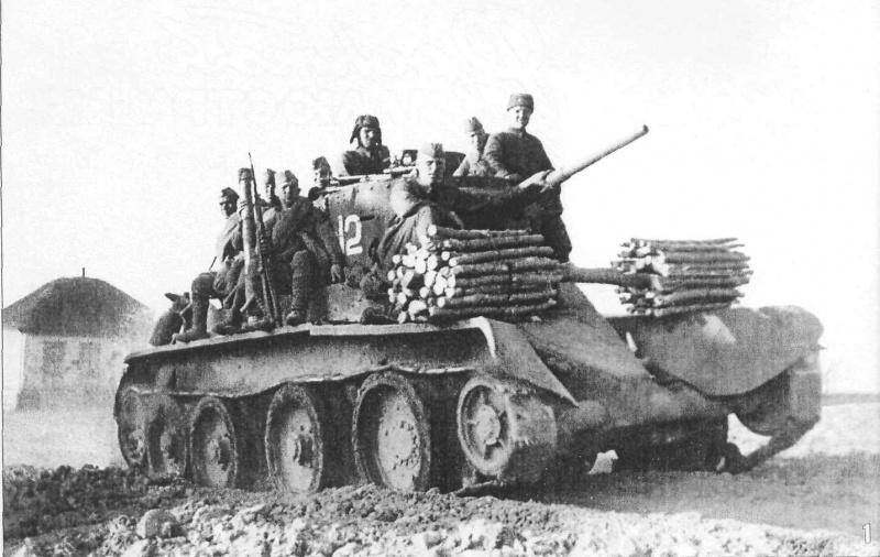 Десант на броне легкого танка БТ-5 во время Харьковской операции 1942 года