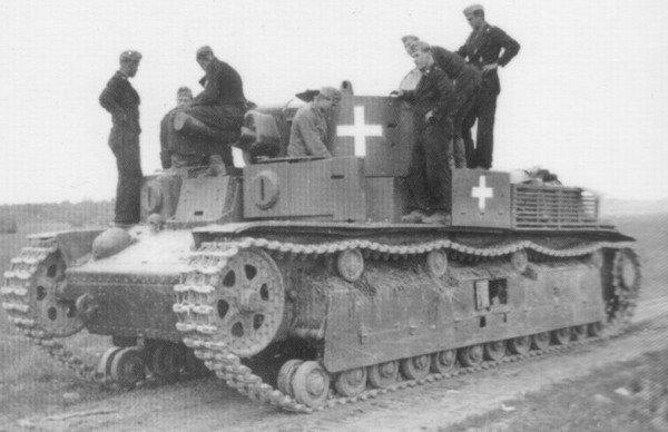 Экранированный Т-28 с маркировкой войск вермахта, осень 1941 года