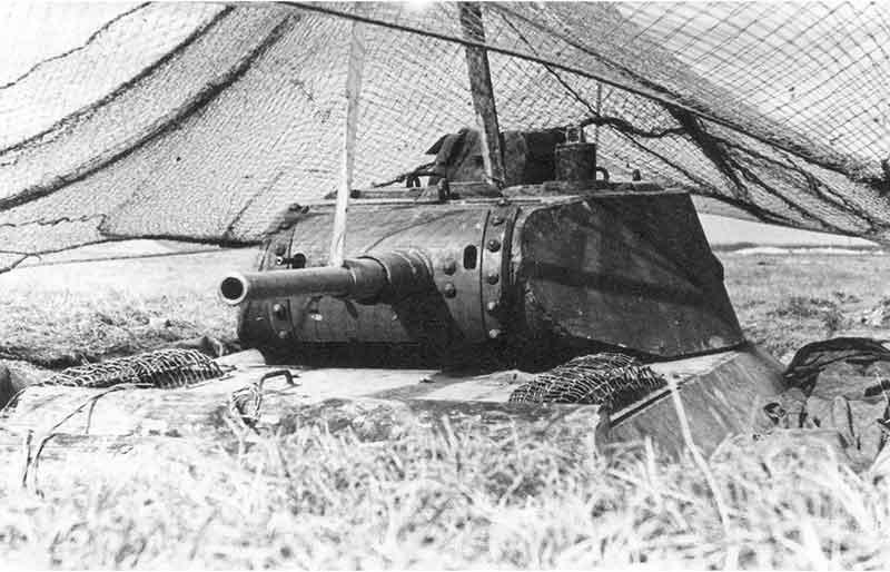 Танк Т-50 в капонире