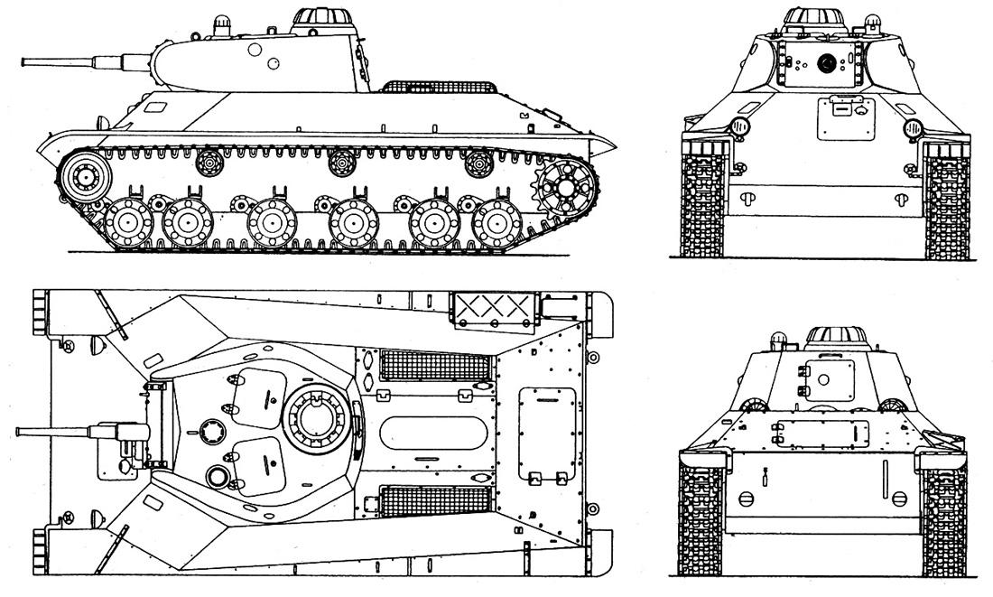 Чертежи танка Т-50