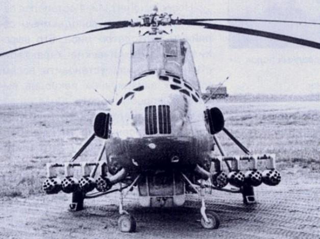 Ми-4А с восемью блоками УБ-16-57 с НАР С-5К