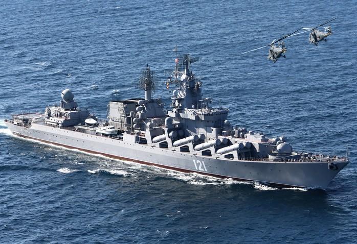 Ракетный крейсер 'Москва' (Слава) - флагман Черноморского флота России
