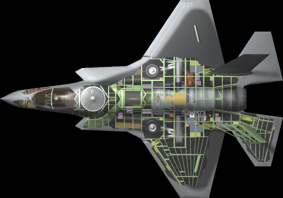 Схематичное изображение конструкции F-35B