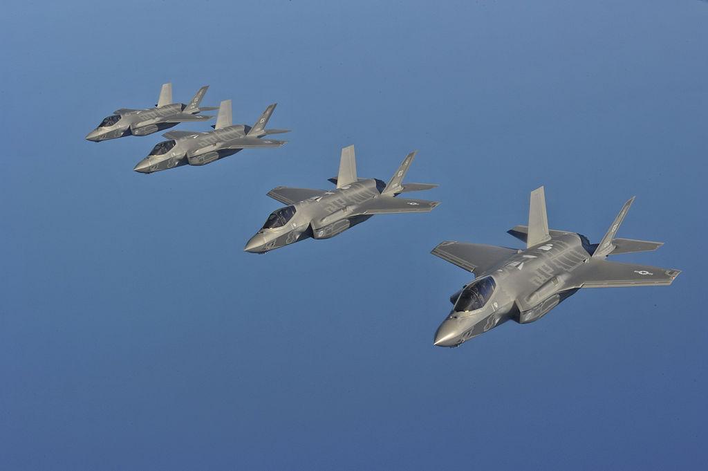 Звено F-35A ВВС США, 15 мая 2013