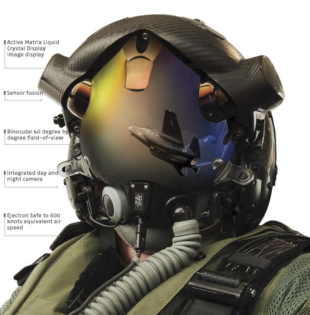 Дисплейный шлем для пилота F-35 Helmet Mounted Display System (HMDS)