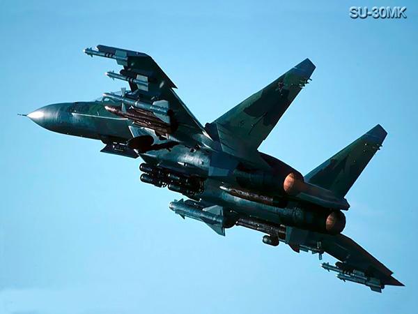 Самолет Су-30МК российских ВВС