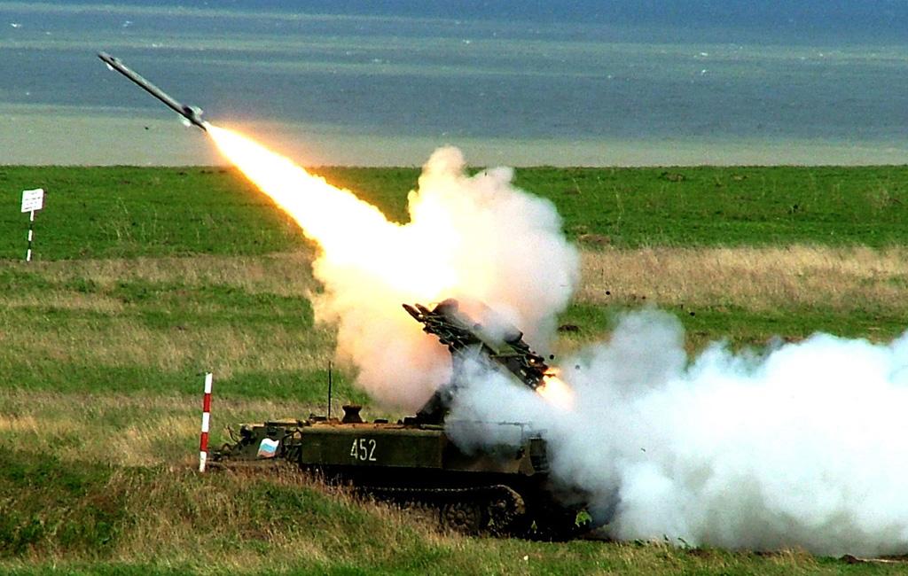 Пуск ракеты ЗРК Стрела-10