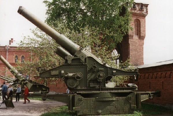 Фото гаубицы Бр-18 в артиллерийском музее в Санкт-Петербурге