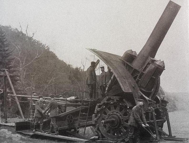 «Большая Берта» 420-миллиметровое осадное орудие