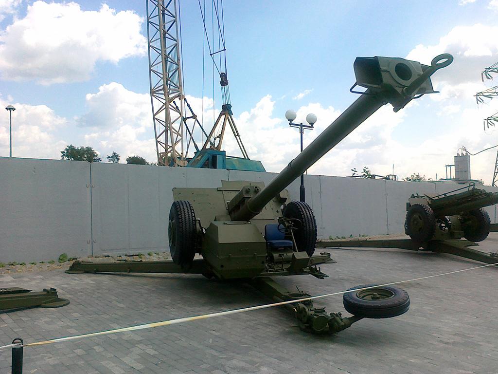 Самодвижущаяся пушка 2А45М Спрут-Б в Музее Верхней Пышмы