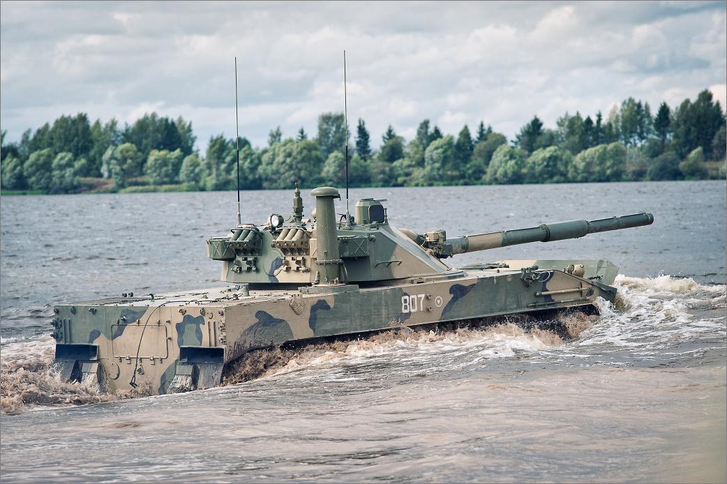 САУ 2С25 'Спрут-СД' - авиадесантная самоходная противотанковая пушка калибр 125-мм