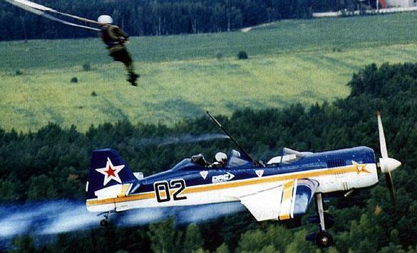 Катапультирование первого пилота из самолета Су-29