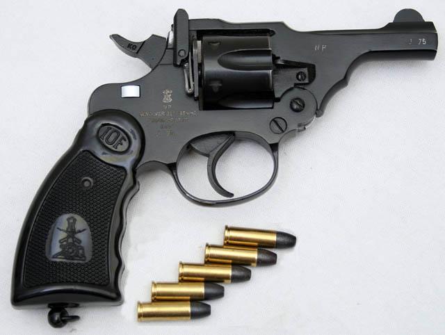 Индийский револьвер IOF .32 Revolver на основе Webley Mk IV