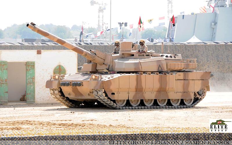 Танк АМХ-56 «Леклерк» ВС ОАЭ в пустынном камуфляже