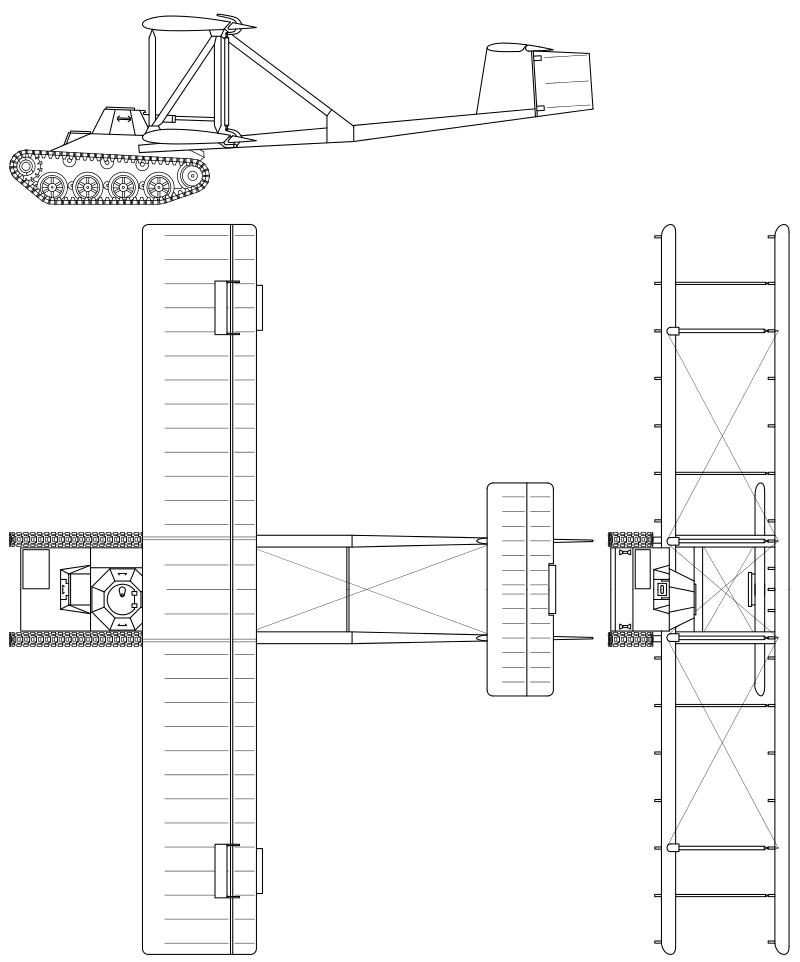 A-40. Проекции планера.