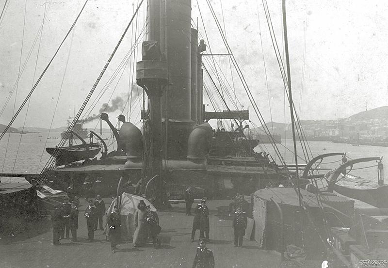 Броненосный крейсер 'Громобой', вид на шканцы