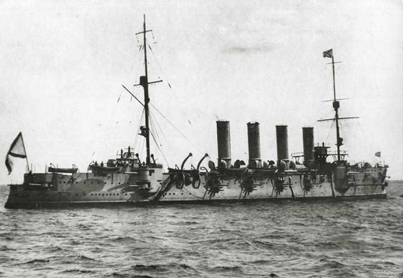 Броненосный крейсер 'Громобой' на Балтике
