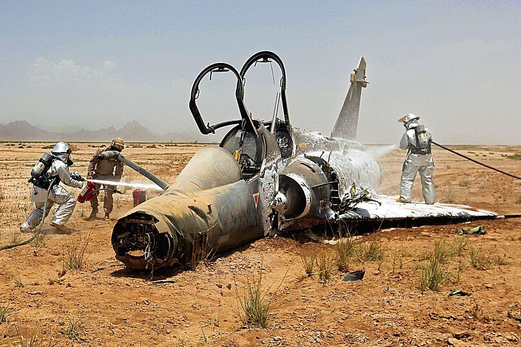Обломки французского «Мираж 2000», потерянного в Афганистане