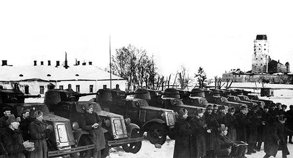 Бронеавтомобили БА-10 в Выборге