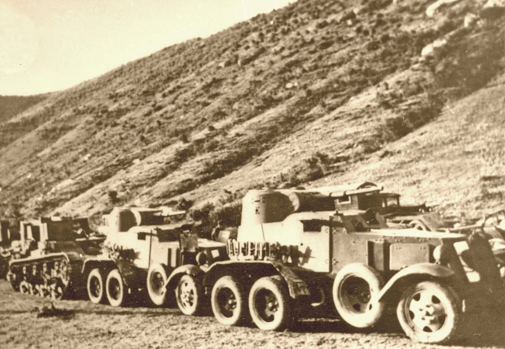 Броневой автомобиль БА-10, 1940 год.