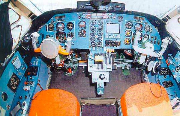 Кабина пилотов Ан-38