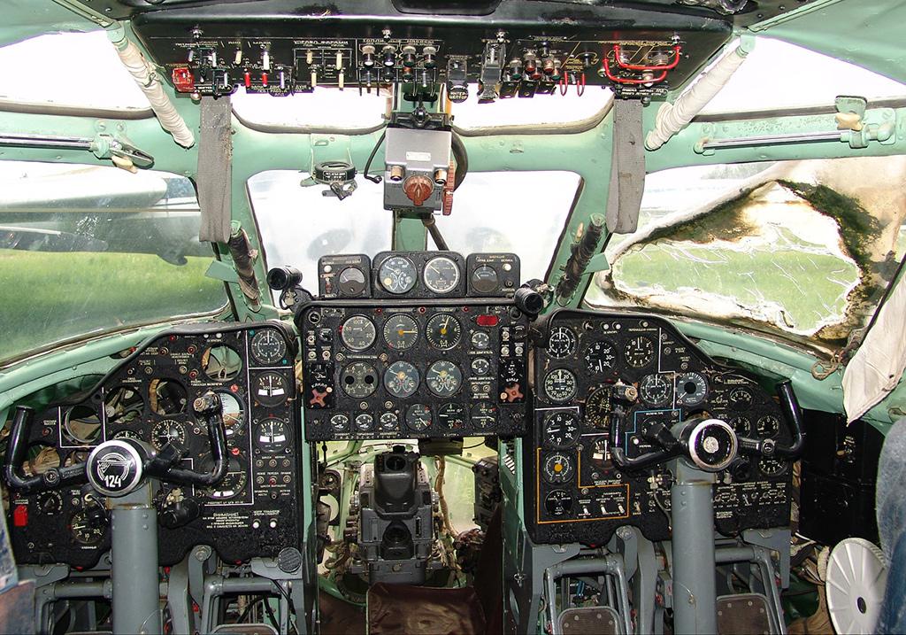 Кабина Ту -124