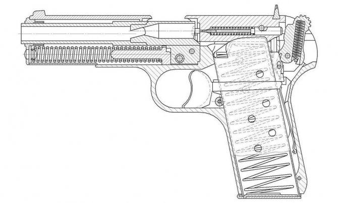 Схема травматического пистолета Лидер-М