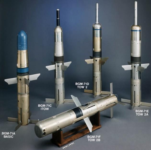 Модификации ракет ПТРК BGM-71 ТOW-2