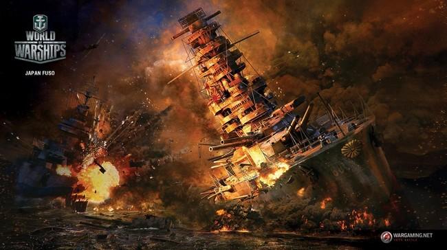 Обои с изображением линкора «Фусо» от проекта World of Warships