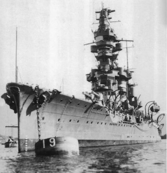 Линкор «Фусо» - линейный корабль ВМС Японии 1915-1944 год