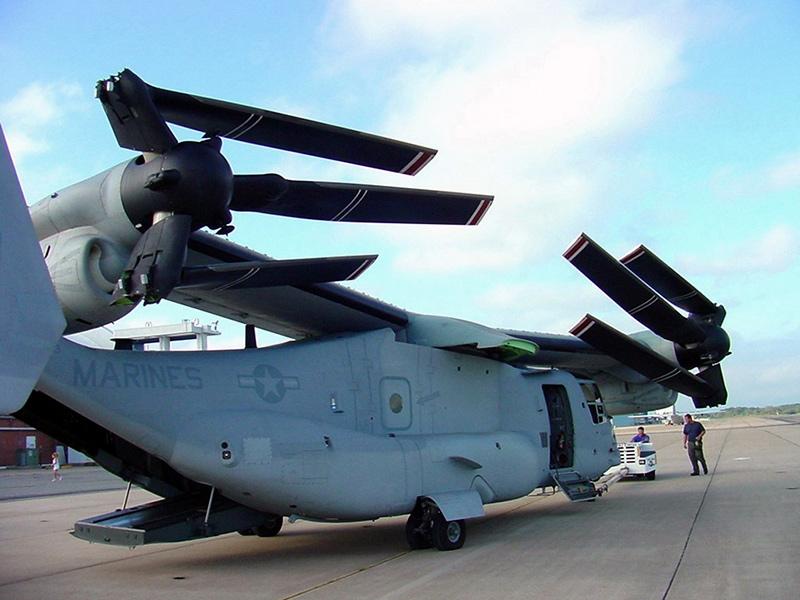 MV-22 Osprey в сложенном состоянии