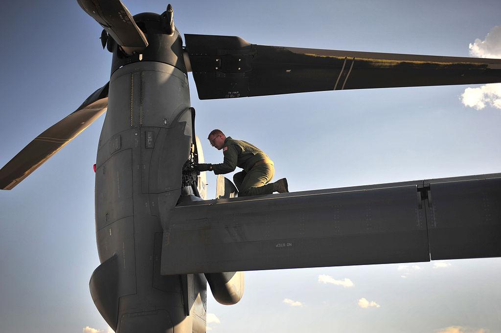 CV-22 Osprey — осмотр ротора