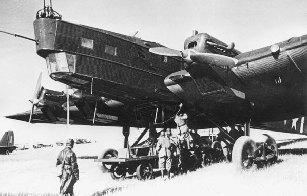 Подвешивание автомобиля под бомбардировщик ТБ-3