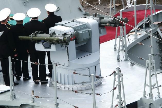 Пусковая установка ЗРК 3М-47 «Гибка» на МАК «Астрахань»