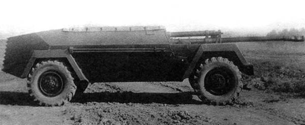 КСП-76 (ГАЗ-68) - колесная противотанковая САУ