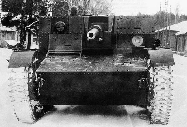 САУ АТ-1 - первый в мире артиллерийский танк