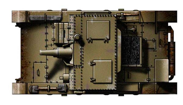 САУ АТ-1 - вид сверху
