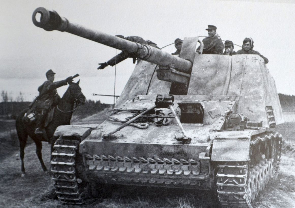 Германская противотанковая САУ SdKfz 164 «Насхорн» («Носорог»)
