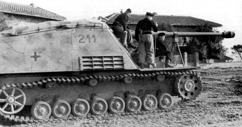 Немецкая САУ «Nashorn», построенная на базе PzKpfw IV
