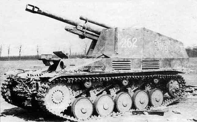 «Веспе» (оса) - немецкая легкая полевая гаубица