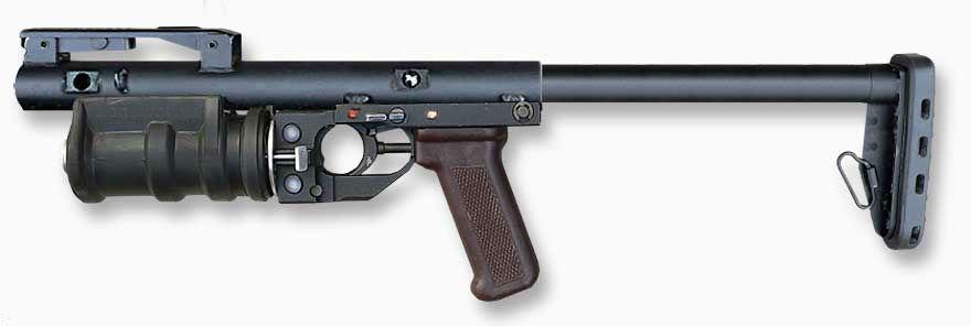 РГМ-40 «Кастет» в боевом положении приклад выдвинут