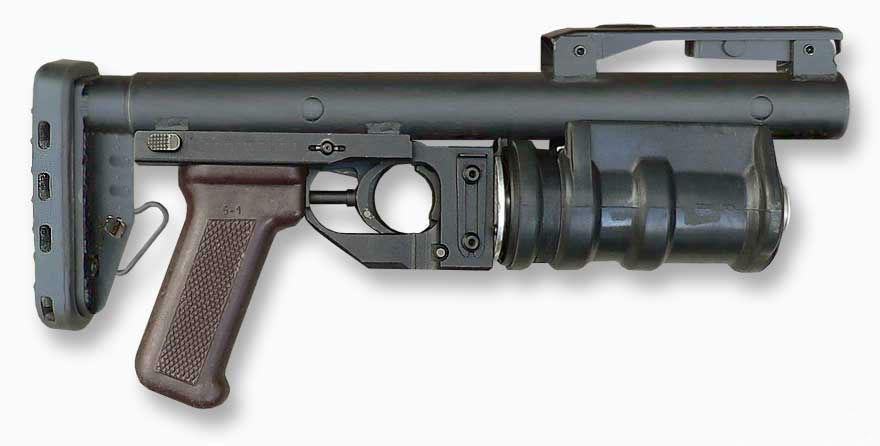 РГМ-40 «Кастет» в походном положении приклад сложен