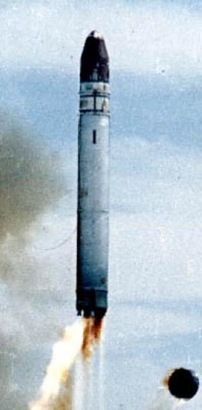 Пуск ракеты МР-УР-100УТТХ