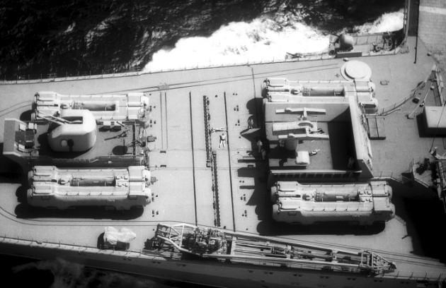 П-500 «Базальт» на палубе авианесущего крейсера «Киев»