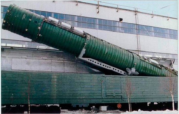 РТ-23УТТХ 'Молодец' (15Ж61) - железнодорожный ракетный комплекс