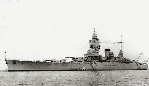 Французский линкор «Дюнкерк» времён Второй мировой войны