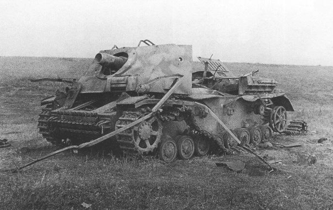 САУ Бруммбар подбитая на Курской дуге