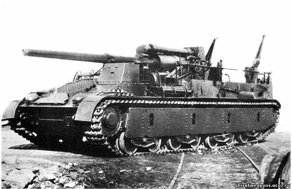 Общий вид САУ СУ-14-1 со 152-мм орудием