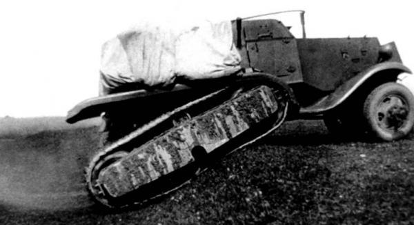 Бронеавтомобиль БА-30 на испытаниях